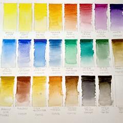 Lefranc Bougeois (Fotero) Tags: ifttt instagram paleta acuarela watercolor lefrancbourgeois pinturas muestra carta colores gama