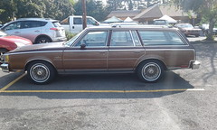 Oldsmobile Cutlass Cruiser (Bobby Jimmy JR) Tags: gm generalmotors general motors gbody station wagon stationwagon oldsmobile cutlass cruiser 5th generation woody 1978 1979 1980 1981 1982 1983 1980s 80s era parking lot parked white walls wall wheels 503 ptown pdx portland oregon pacific northwest pacificnorthwest pnw cutlasscruiser hot august daze 19th annual the dukes of car club thedukesofportland gateway elks lodge se stark street hotaugustdaze sunday 27th 2017
