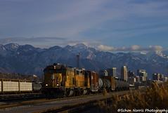 Weird Train, Weird Place, Weird Track (Schon Norris) Tags: union pacific local train railroad railway