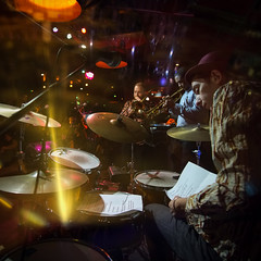 The Big Smoke Family (Shell Daruwala) Tags: bigsmokefamily music musicians musician gig gigs live instruments funk neworleans nola london ronniescotts jazz band bands doubleexposure fujifilm xpro1 samyang12mm creative incamera lighting