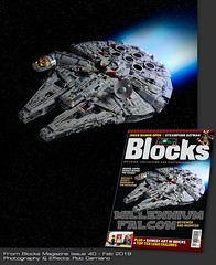 UCS Millennium Falcon - Blocks Cover (Agaethon29) Tags: lego afol legography brickography legophotography toy toyphotography macro cinematic 2017 legospace space scifi sciencefiction blocks blocksmagazine starwars millenniumfalcon ucs