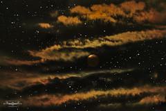 DSC_7449b-EditFAA (john.cote58) Tags: fortville supermoon moon lunar event unusual rare large closetoearth indiana dark night evening horizon astrology sky clouds painterly stars interiordesign print professional photography josephyvoncote orange yellow black red art
