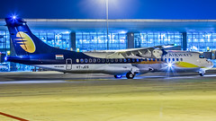 Jet Airways Aerospatiale ATR72 VT-JCS Bangalore (BLR/VOBL) (Aiel) Tags: jetairways aerospatiale atr atr72 vtjcs bangalore bengaluru canon60d tamron70300vc night ramp
