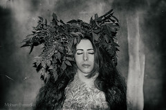 turn off (mohsen-etemadifar) Tags: woman leaf dark conceptual girls portrait visual iranian