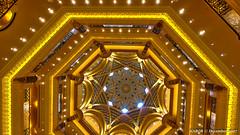 Abu Dhabi, United Arab Emirates: Emirates Palace atrium ceiling (nabobswims) Tags: ae abudhabi ceiling emiratespalace hdr highdynamicrange hotel ilce6000 lightroom nabob nabobswims photomatix sel1018 sonya6000 uae unitedarabemirates