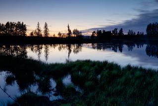 Swan Pond Sunset