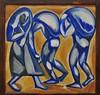 """""""Paysans au travail"""", vers 1910-1911, Natalia Goncharova (1881-1962), Musée de Grenoble, Grenoble, Rhône-Alpes-Auvergne, France. (byb64) Tags: muséedegrenoble musée museo museum grenoble isère 38 rhônealpes dauphiné france frankreich francia europe europa eu ue xxe 20th peinture painting dipinto cuadro tableau goncharova nataliagoncharova paysans futurisme futurismo avantgarderusse paysansautravail"""