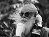 Blowing In The Wind. (Neil. Moralee) Tags: neilmoralee usa2017neilmoralee man hair wind windy blowing face glasses portrait candid drink drinking straw suck balding vip sunglasses sunnies blown blow breeze gust disheveled neil moralee nikon d7200 black white mono monochrome bw bandw blackandwhite street whiteandblack stranger mature old people cup outdoors
