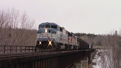 Job 1 on Onawa Trestle (MaineTrainChaser) Tags: trains train west westbound maine job1 cmq citx sd402 sd402f