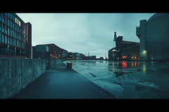 tatort münster (christian mu) Tags: architecture panorama germany muenster münster christianmu harbour hafen winter batis zeiss 252 25mm batis252 sony sonya7riii sonya7rm3 longexposure