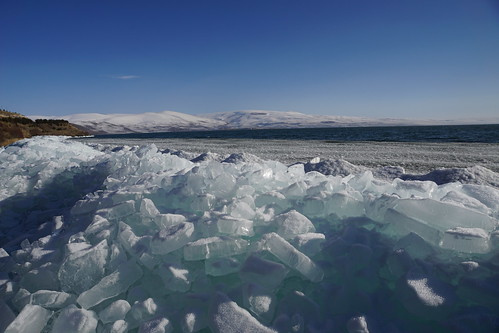 Blue ice of  Lake Cildir