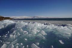 Blue ice of  Lake Cildir (CharlesFred) Tags: ardahan snow kars neige sneeuw neve ghiaccio ijs ice