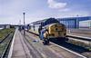 37144 Yarmouth 1E95 8th June 1991 (Mr Bushy) Tags: greatyarmouth yarmouth anglia eastanglia table16 er easternregion lner londonnortheasternregion br britishrail 1991 norfolk norfolkbroads class37 eetype3 railfreightconstuction