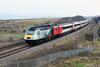 2018-01-14 @ Dawdon, Seaham: 1S09 0900 London King's Cross-Dundee: HST 43238 43206 [DSC_2183] (graeme9022) Tags: 254 43 class high speed train diesel electric locomotive multiple unit dmb driving motor brake national railway museum 43038 vtec virgin trains east coast main line mainline ecml diversion diverted red silver livery uk durham route british railways north england northern eastern express passenger transport transportation nrm 1975 2015 named