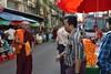 DSC_7942 (Kent MacElwee) Tags: monk buddhistmonk yangon rangoon myanmar burma southeastasia asia market people produce
