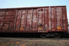 Werk (NJphotograffer) Tags: graffiti graff trackside railroad rail art freight train bench benching box car boxcar werk