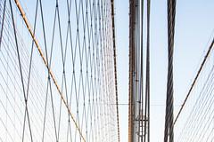 Brooklyn Bridge (marktmcn) Tags: sky horizontal vertical lines brooklyn bridge cables cable cablestayed suspension wires crossing crisscrossing abstraction