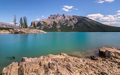 Minnewanka Lake (Stefano Laurita) Tags: lake canada nature colors landscape longexposure