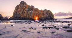 Sunset on Purple Sand, Pfeiffer Beach (HelenC2008) Tags: bigsur pfeifferbeach purplesand purple sunset highway1 pacificocean coastline nikon d810