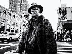 Join Us (Feldore) Tags: newyork man style eccentric unusual fashion stylish fur hat coat canal street feldore mchugh em1 olympus 17mm 18