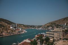 Crimea (alina.matiukhova) Tags: sea summer sky water sun sunset sunshine landscape mountain ship crimea
