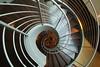 Lines into deep (Elbmaedchen) Tags: swirl staircase stairwell stairs stufen treppenauge treppenhaus architektur architecture escaliers escaleras roundandround hamburg airport radissonblu