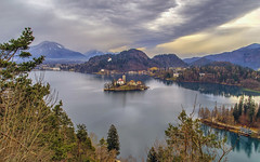 Bled (Fil.ippo) Tags: lake bled slovenia lago isola isle water cloud sky hdr landscape filippo filippobianchi d7000 travel tourism viaggio alps alpi mountain montagna