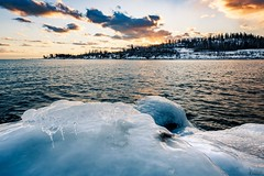 Ice , Lake Superior , MN (Vasil1978) Tags: forest rocks clouds sunset perfection ice waterscape lake duluth minnesota landscape nature ngc