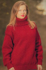 Red hot sexy turtleneck (Mytwist) Tags: red hand knitted wool sweater warm handmade classic jumper supertanya knit knitwear style fashion outfit tn tneck fetish retro craft winter women hot blonde sexy sweatergirl design love girl wife