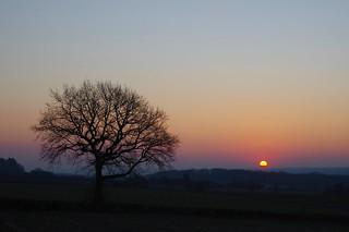 Sunrise on a cold frosty morning.....