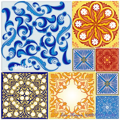 Tiles..unbroken (Spellstone) Tags: spain tile china broken mosaic barcelona ceramic spellstone spoonflower roostery art craft design surface pattern society6 alexmorgan pillow cushion phonecase textile fabric wallpaper totebag tote clock wallclock mug rug pouch laptopskin clothing apparel sewing curtains