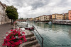 Peschiera del Garda (Stephan Neven) Tags: peschiera water boat flower city lake garda italy stairs river tree landscape