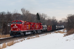 Fresh Paint (shawn_christie1970) Tags: minneapolis minnesota unitedstates us cp8119 cp8106 paynesvillesub train cp293 winter freshpaint cpr canadianpacificrailway ge ac4400