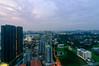 Queenstown Sunset (OzGFK) Tags: asia hdb housingdevelopmentboard nikond90 singapore skyvilleatdawson skyvilledawson tokinalens cityscape clouds dusk evening heartlands longexposure night rooftop skyline suburbs sunset viewingdeck queenstown tokina1116mm