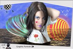 GRAPHIC PORTRAIT 3 (ADRIANO ART FOR PASSION) Tags: portrait grafica graphic photoshop surreale surrealismo sfere tre sguardo ragazza girl modella ritratto fotomontaggio adrianoartforpassion adriano fantasia fantasiagrafica elementigrafici stelle photoshopcreativo