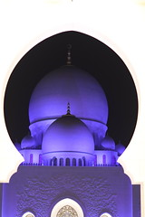 Grand Mosque, Abu Dhabi, UAE. Unique night view. (Subrata_AD) Tags: canoneos5dmarkiv canonef85mmf12liiusmlens thingstoseeinabudhabi streetphotography seikhzayedmosque monument landmark architecture lighting nightphotography uae abudhabi grandmosque