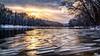 Ice Water (Bobby Palosaari) Tags: grandriver golden ice peaceful river snow sunset winter