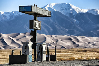 The gas station in the desert