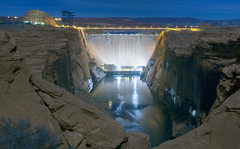 Glen Canyon Dam (Joel Quimpo) Tags: lake powell page az glen canyon dam moonlight coloradoriver nightphotography