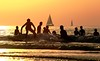 Surfing bathing & sailing at sunset - Tel-Aviv beach - Follow me on Instagram:  @lior_leibler22 (Lior. L) Tags: surfingbathingsailingatsunsettelavivbeach surfing bathing sailing sunset telaviv beach telavivbeach sailboats silhouettes