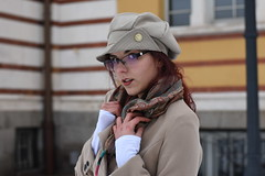Desi (saromon1989) Tags: young girl woman fashien portrait glasses red redhair winter