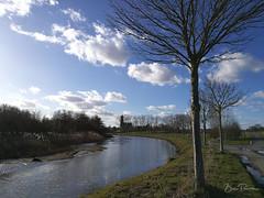 La Lys à Warneton (bpmm) Tags: belgique lys warneton arbres canal ciel nuages