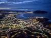 Panoramica Bahía de Laredo y Santoña (Iñigo Escalante) Tags: mar europa azul ciudad cantabrico cantabria infinita costa noche luces bahia playa atardecer laredo santoña aerea air