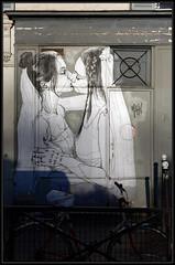 Mahn Kloix (Gramgroum) Tags: street art paris collage sticker mahn kloix