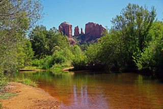 Cathedral Rock - view from Crescent Moon Picnic Site - Sedona, AZ