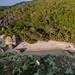 Anse Source d'Argent beach aerial La Digue, Seychellen