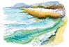 Pointe du grain. Lac de Neuchâtel (spiro_pi10) Tags: suisseswitzerlandch dessin peinture aquarelle paysage plage lac neuchâtel roseaux water