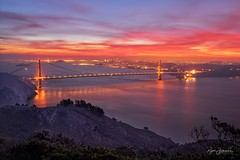 Radiance (Rajesh Jyothiswaran) Tags: bay area bridge california city colorful dawn gold rush golden gate hawk hill high tech hollywood lights night pacific ocean san francisco silicon valley skyline sunrise technology twilight water
