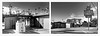 rockview drive thru fullerton (fe2cruz) Tags: white bw monochrome blackwhite black blackandwhite 7dwf diptych iphone mobilephone cellphone architecture fullerton california socal ca palmtree rockview dairy drivethru store convenience market