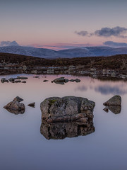 Conclude (raymond_carruthers) Tags: lochannahachlaise scotland winter argyllbute reflections lochs rannochmoor blackmount sunsetcolours mountains sunset
